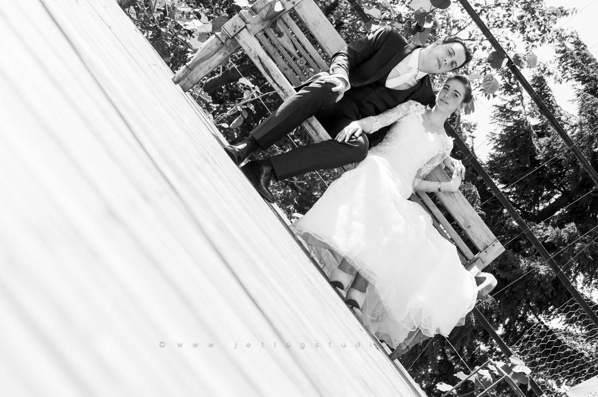 noir-et-blanc-couple-mariés-dagneux